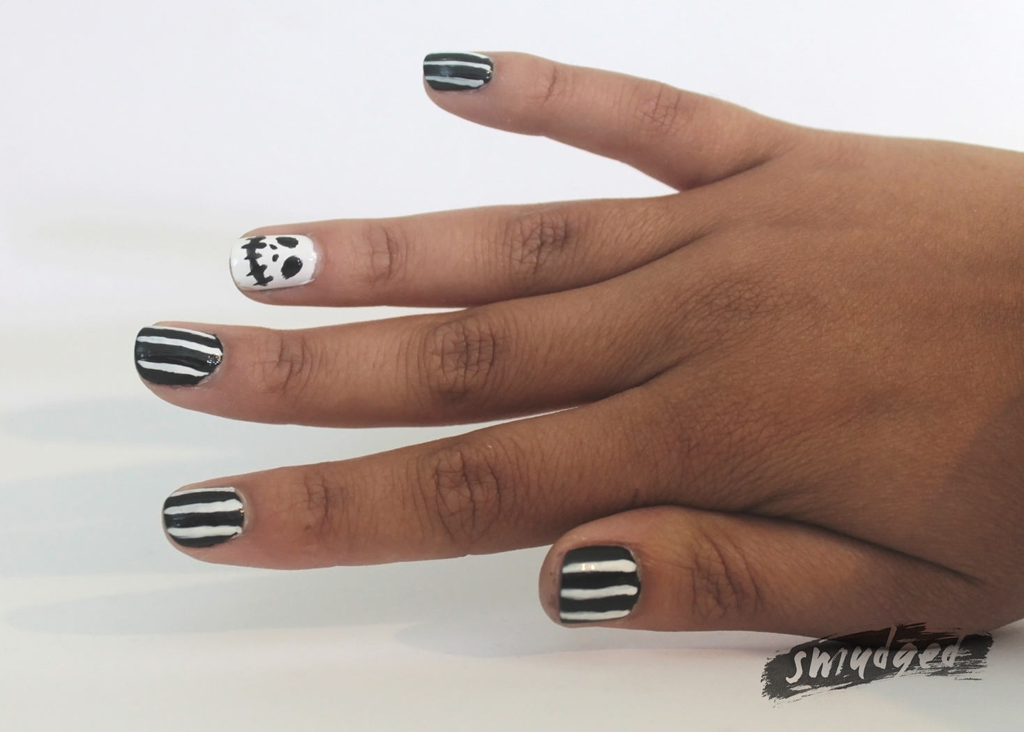 Jack Skellington Nails (plus a Smudged Hijacking! WITH SEVERAL ...