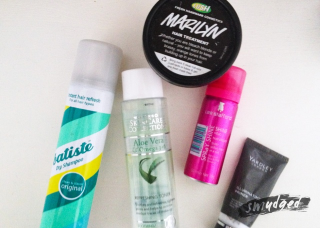 batiste dry shampoo, LUSH marilyn hair mask,